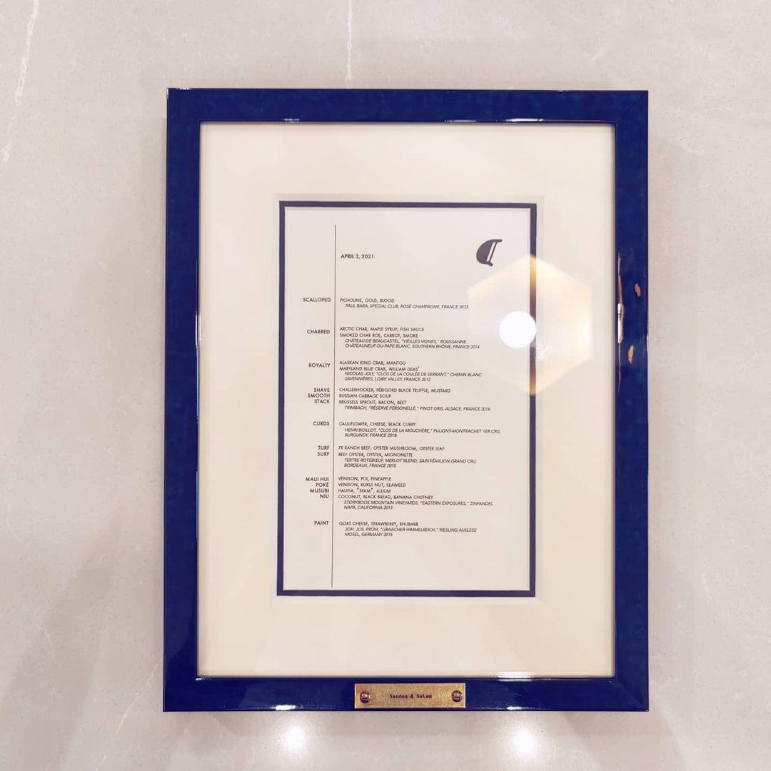 alinea menu in blue frame