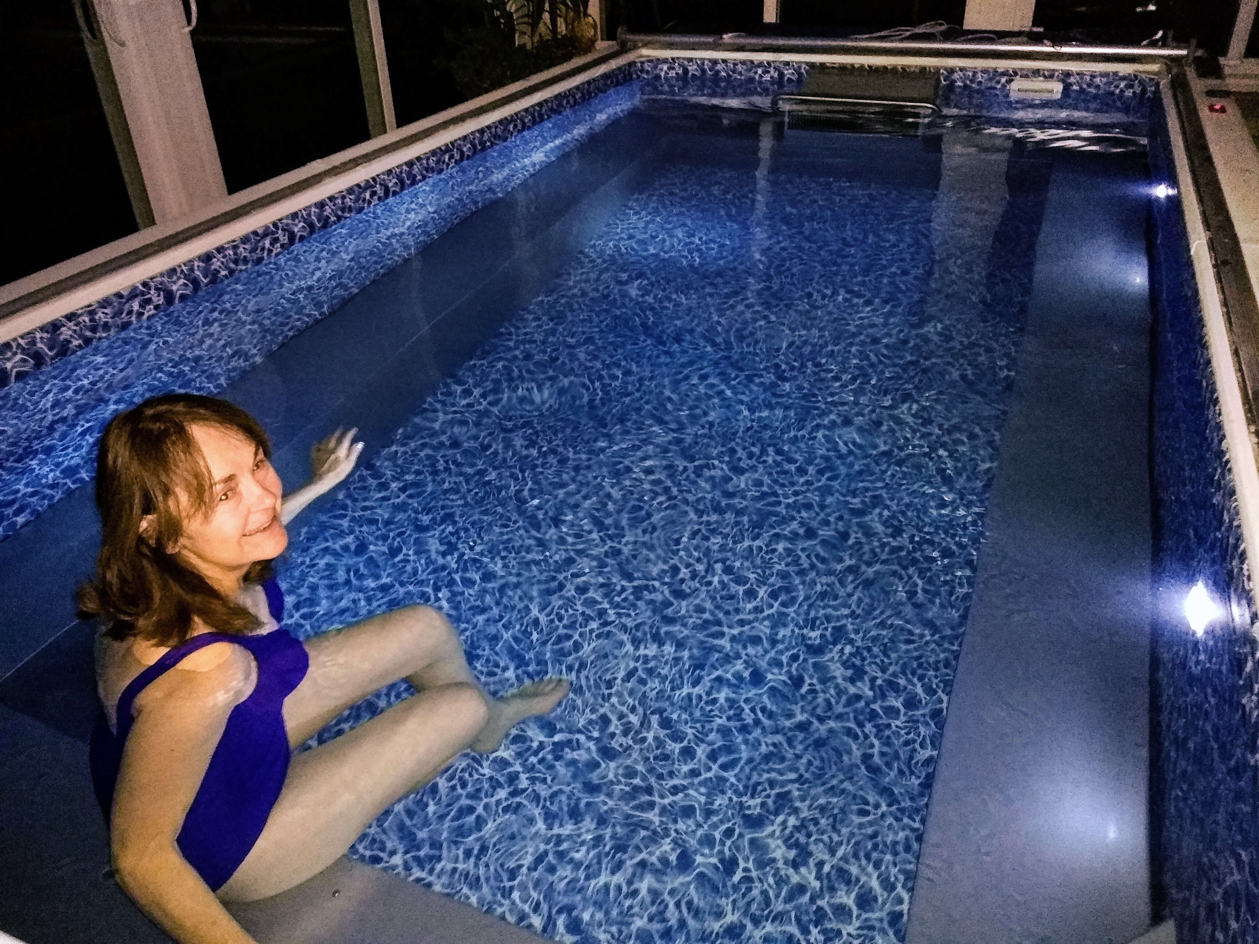 Gayle using her Original Endless Pools to manage her multiple sclerosis symptoms