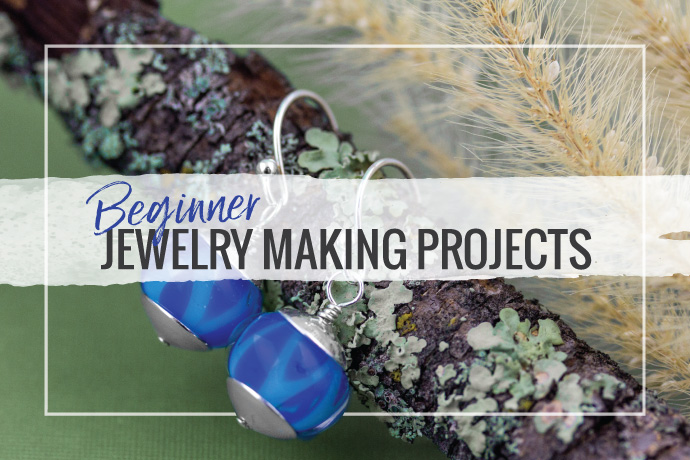 We have compiled a list of 8 great beginner jewelry making projects! From wire working and assembly to basic metalsmithing and soldering.