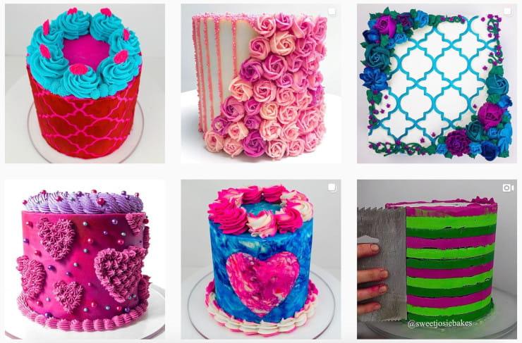 cakes on Instagram