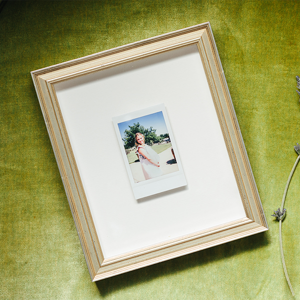 Instax Mini in thin silver Newport frame
