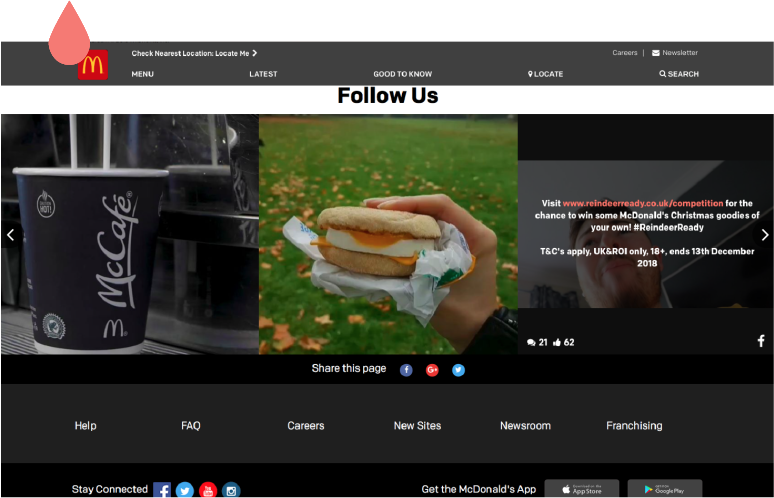 McDonald's social feed plugin