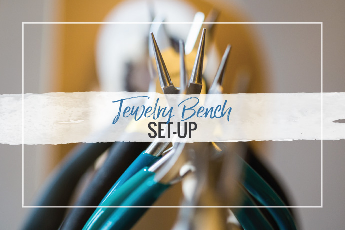 Watch this video overview of how to set-up a jewelry studio bench the first time. Learn essential supplies and tools plus organizational tips.