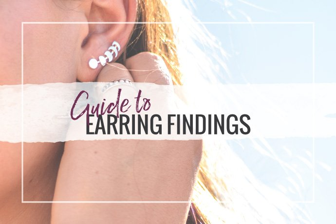 Our guide to earring findings is a complete glossary of terms for earring component parts. Learn the different options available for making earrings.