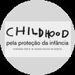 Ícone com logo Childhood pela proteção da infância