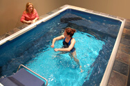 aquatic rehabilitation in the Endless Pool at Conshohocken Physical Therapy