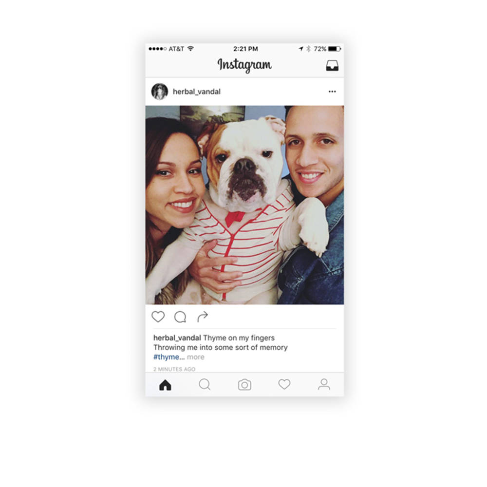 Upload Instagram photos directly from your feed.