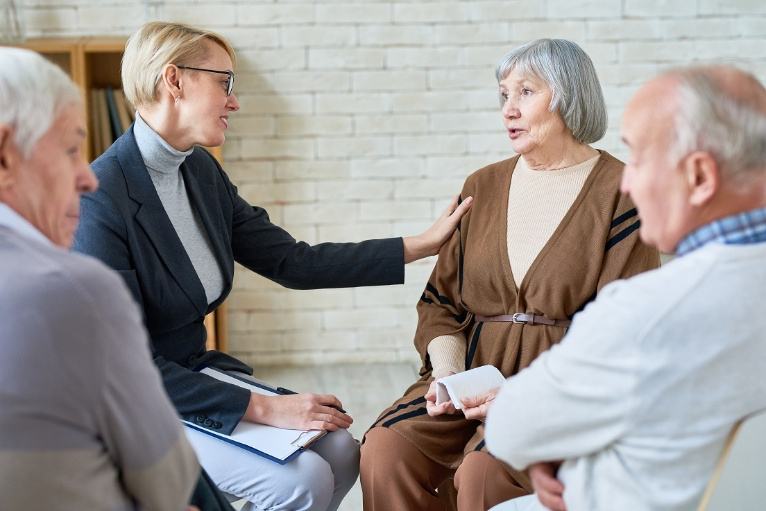 assisted-living-salesperson-comforting-resident-how-to-increase-facility-occupancy