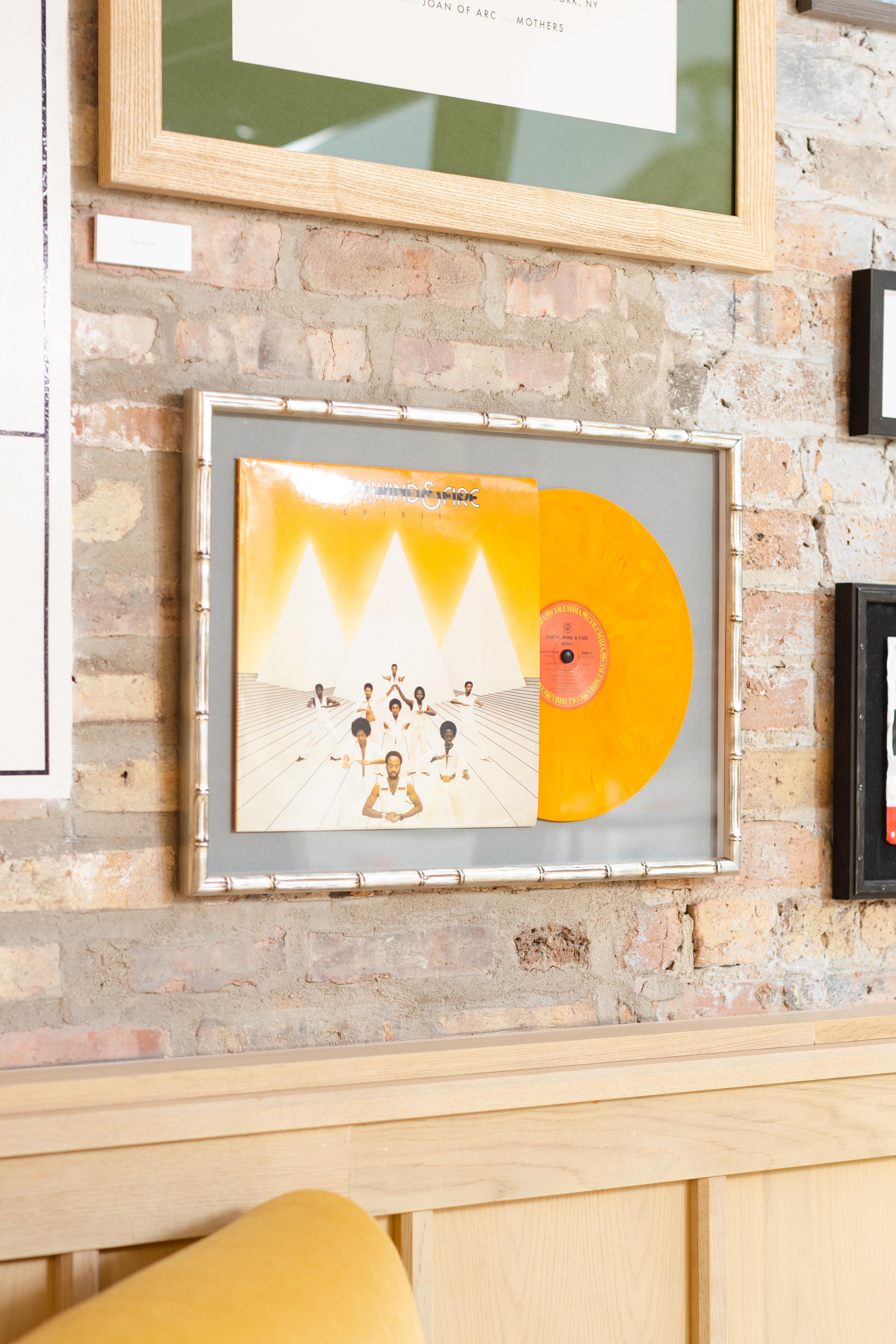 Earth, Wind and Fire framed vinyl