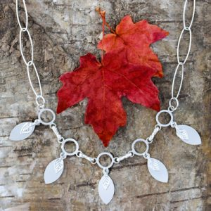 Marquise fringe necklace
