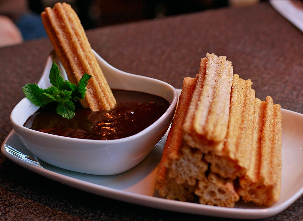 Churros with cajeta in Mexico City