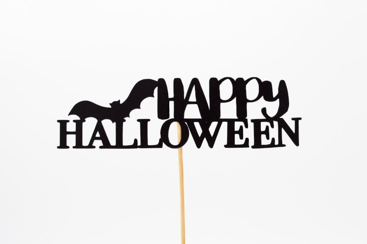 Happy Halloween sign - content curation