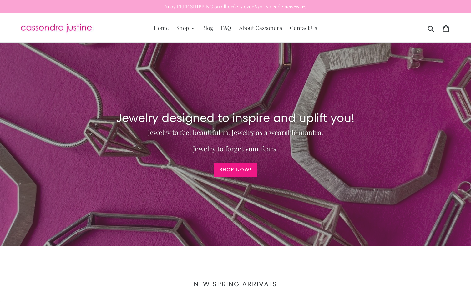 Cassondra Justine website design