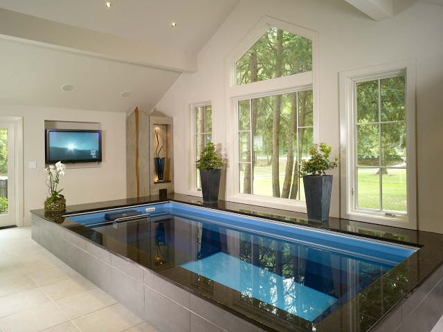 Inground Swimming Pools | Partially Inground Pool Ideas