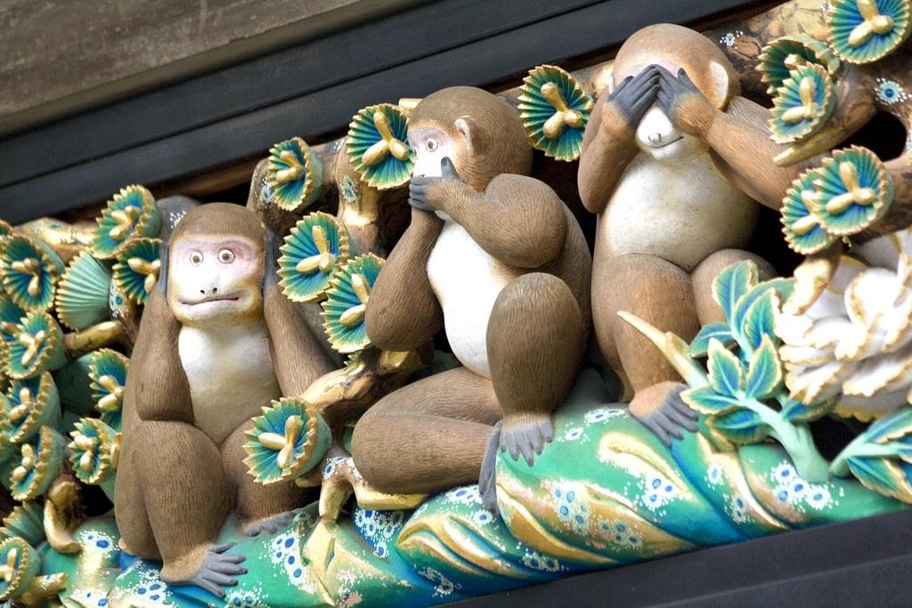 Toshogu Shrine Monkeys in Japan