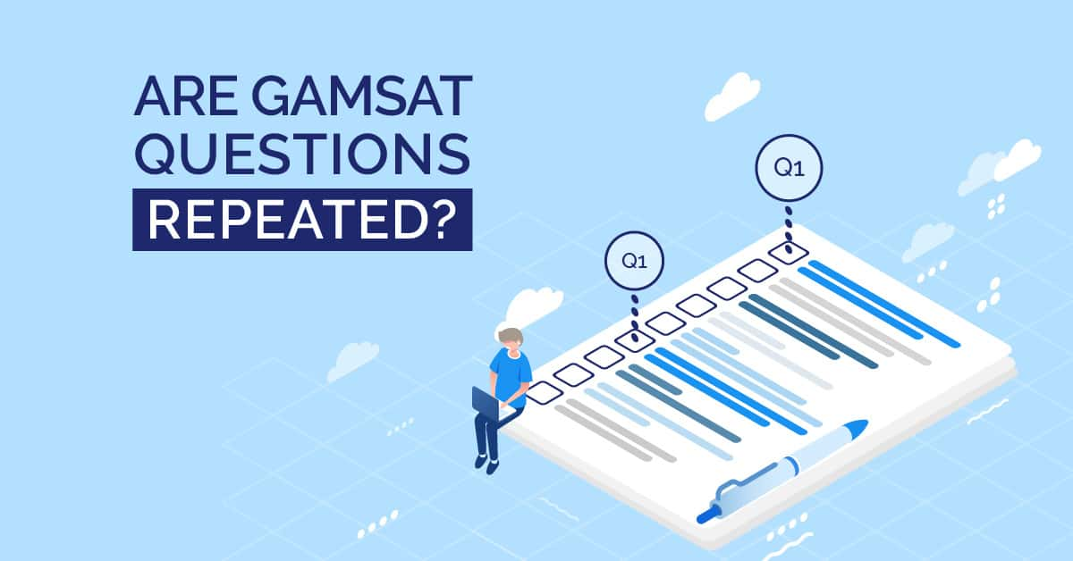 are gamsat questions repeated