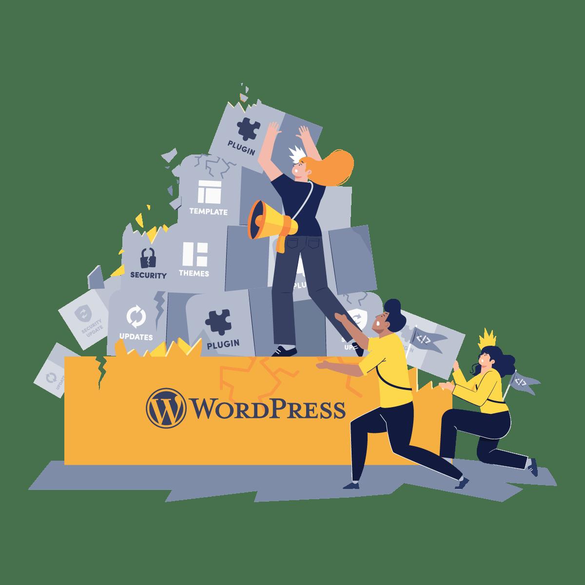 Illustration: WordPress is hard