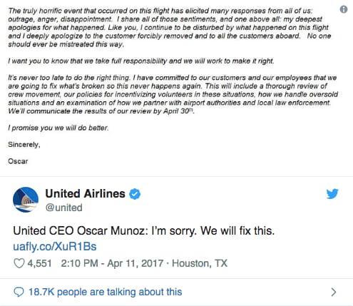 united crisis management - follow up response