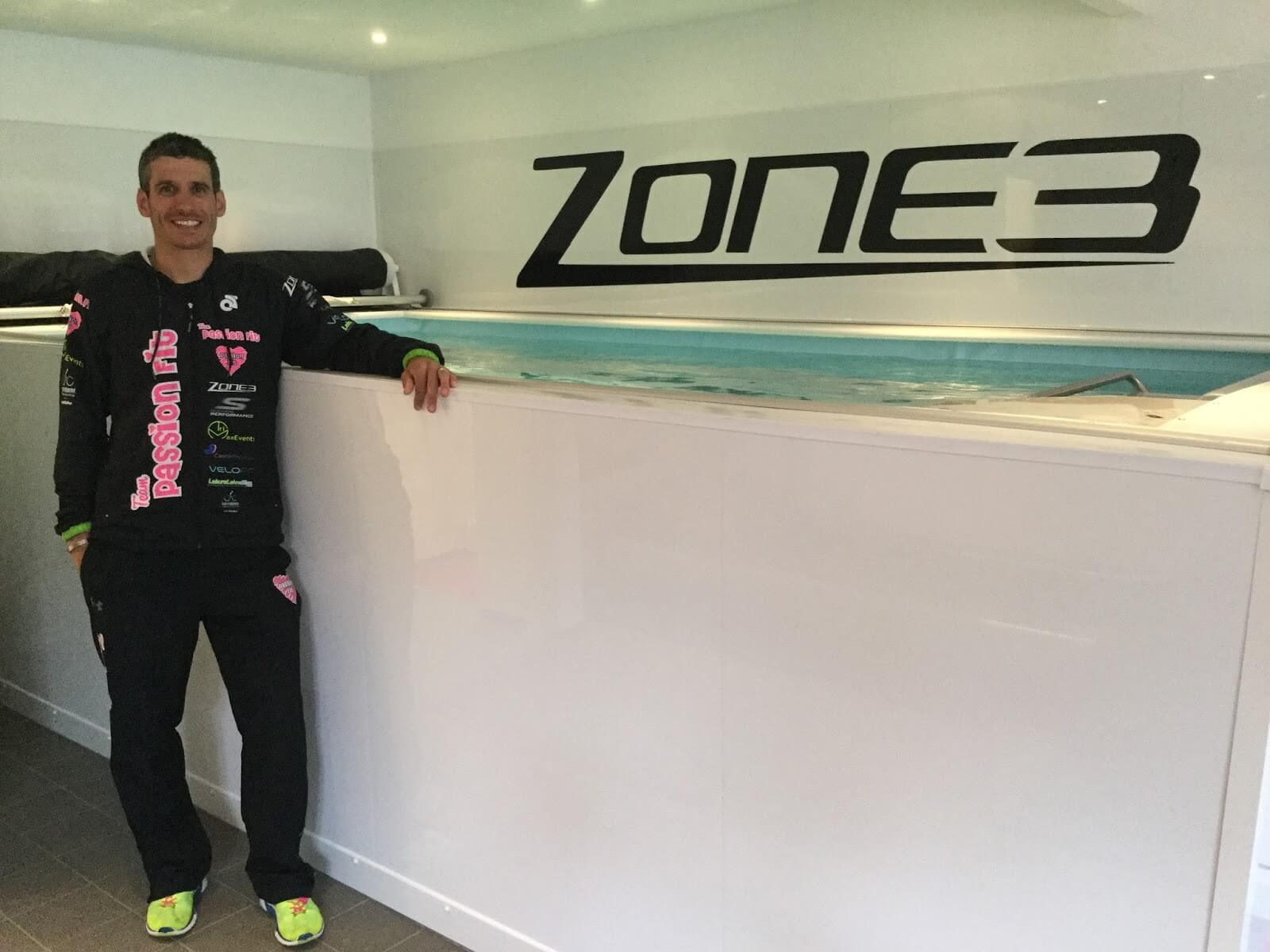 Triathlon coach Tom Ward and the Endless Pools swimming machine at his Passion Fit studio