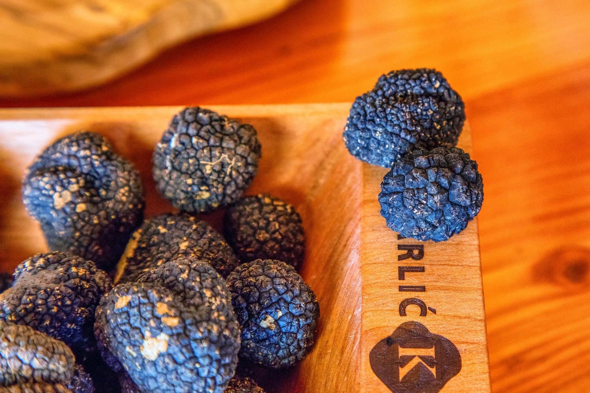 Luxurious black truffles for truffle season visit Croatia