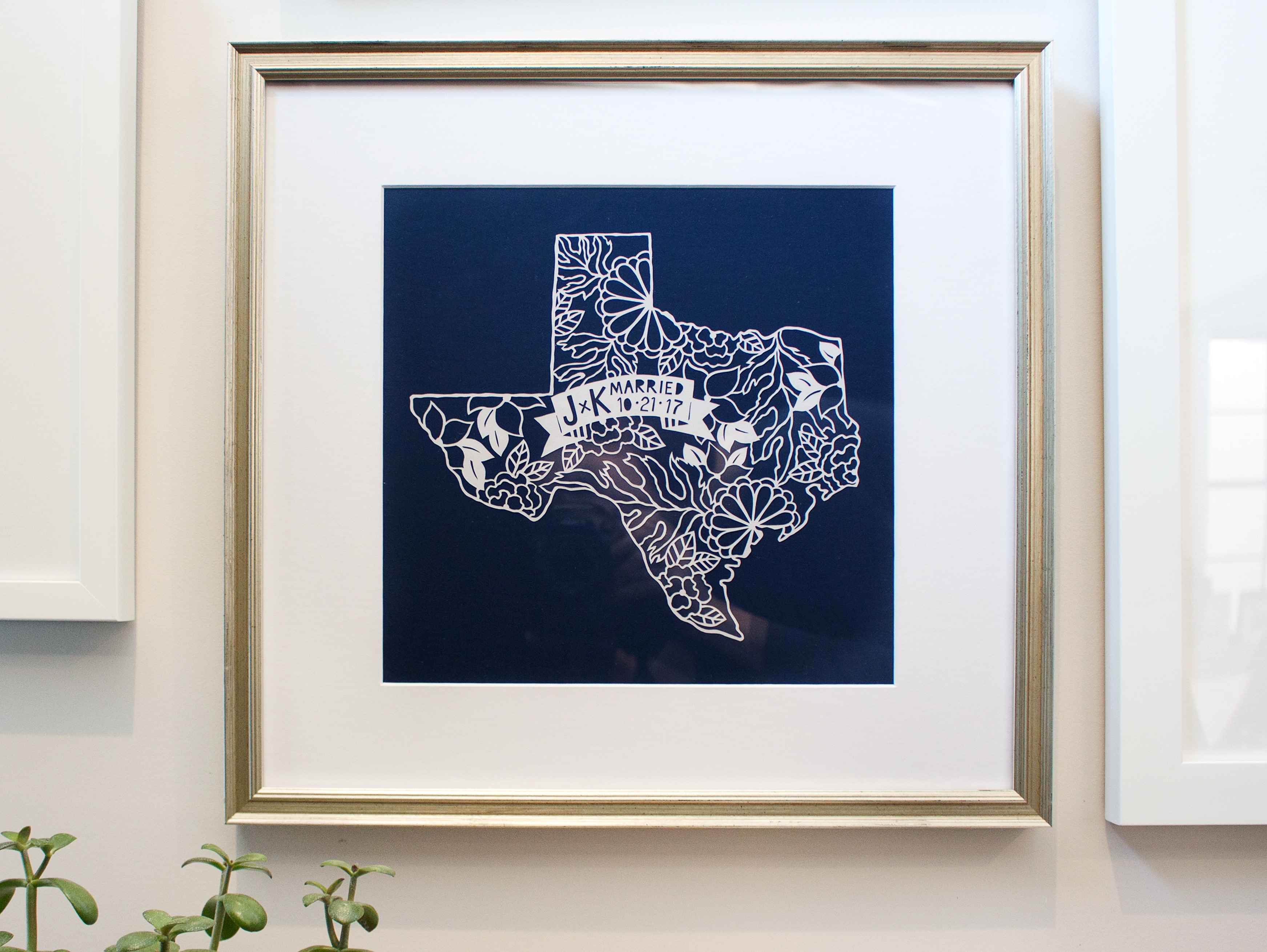 paper cutout of texas