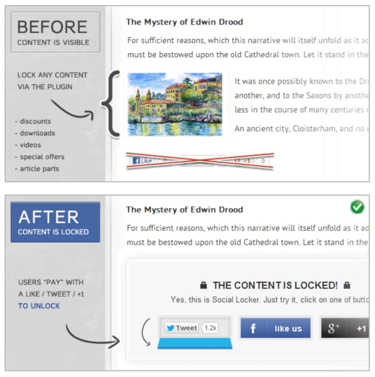 Social Locker Plugin for WordPress