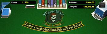 Slotocash Caribbean Draw Poker