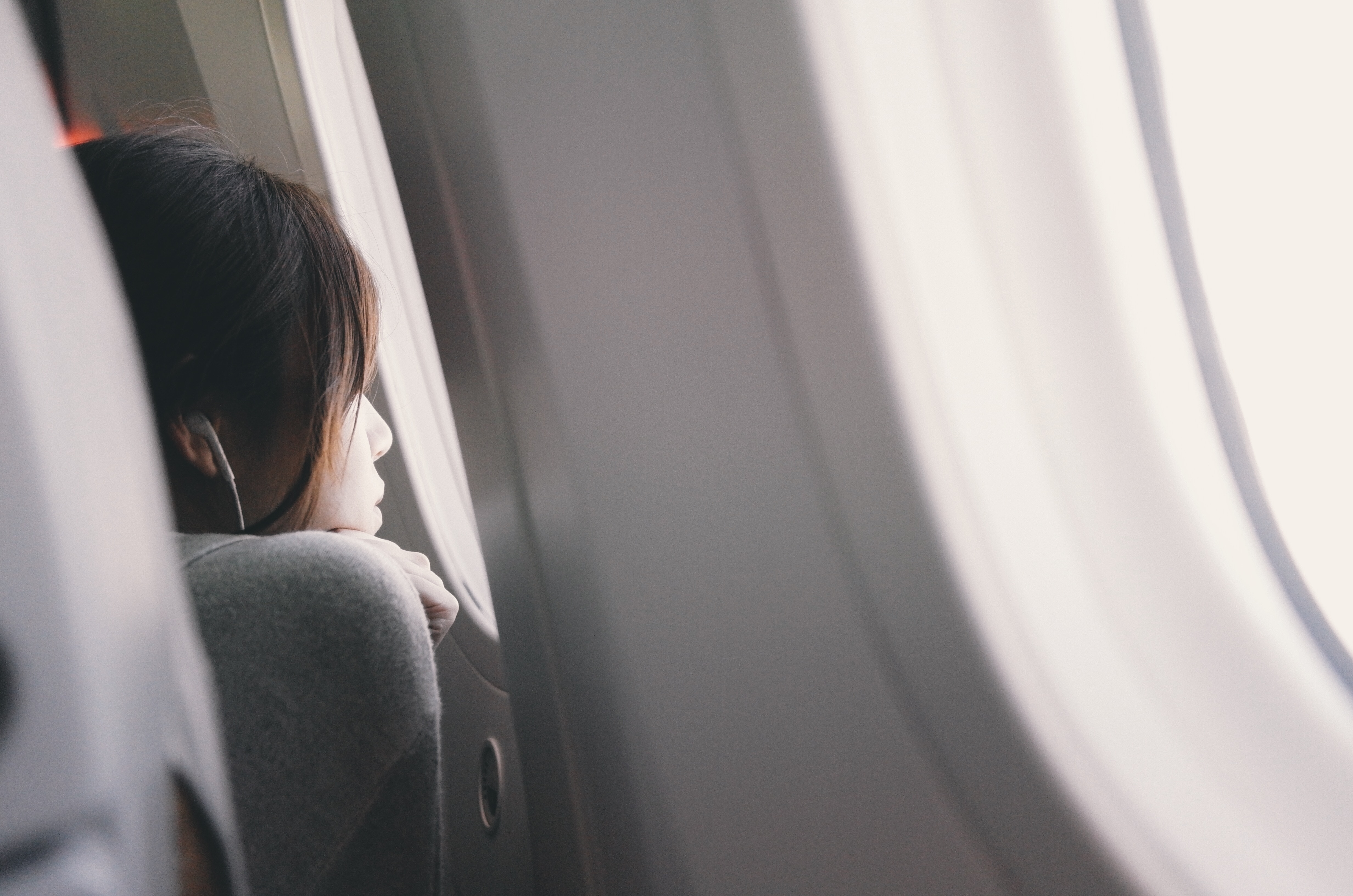 Looking out the window on a flight to Mexico City