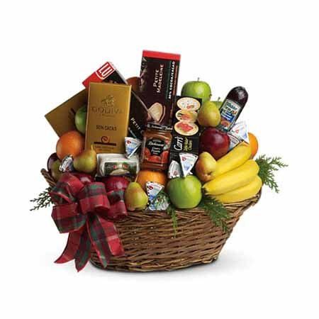 Fruits gift basket best selling Thanksgiving flowers and gifts
