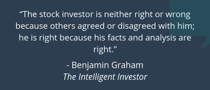 Benjamin Graham - Stock Analysis Quote