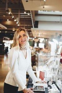 Emma Hoekstra setup at a jewelry fair