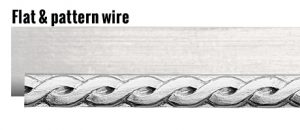 Flat and pattern wire for jewelry making