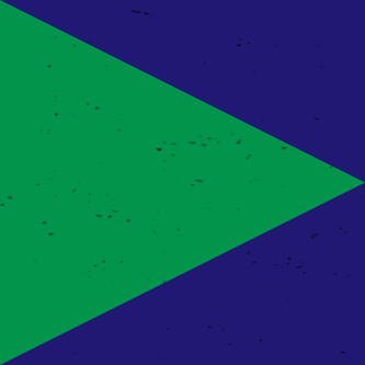 green triangle on navy square background