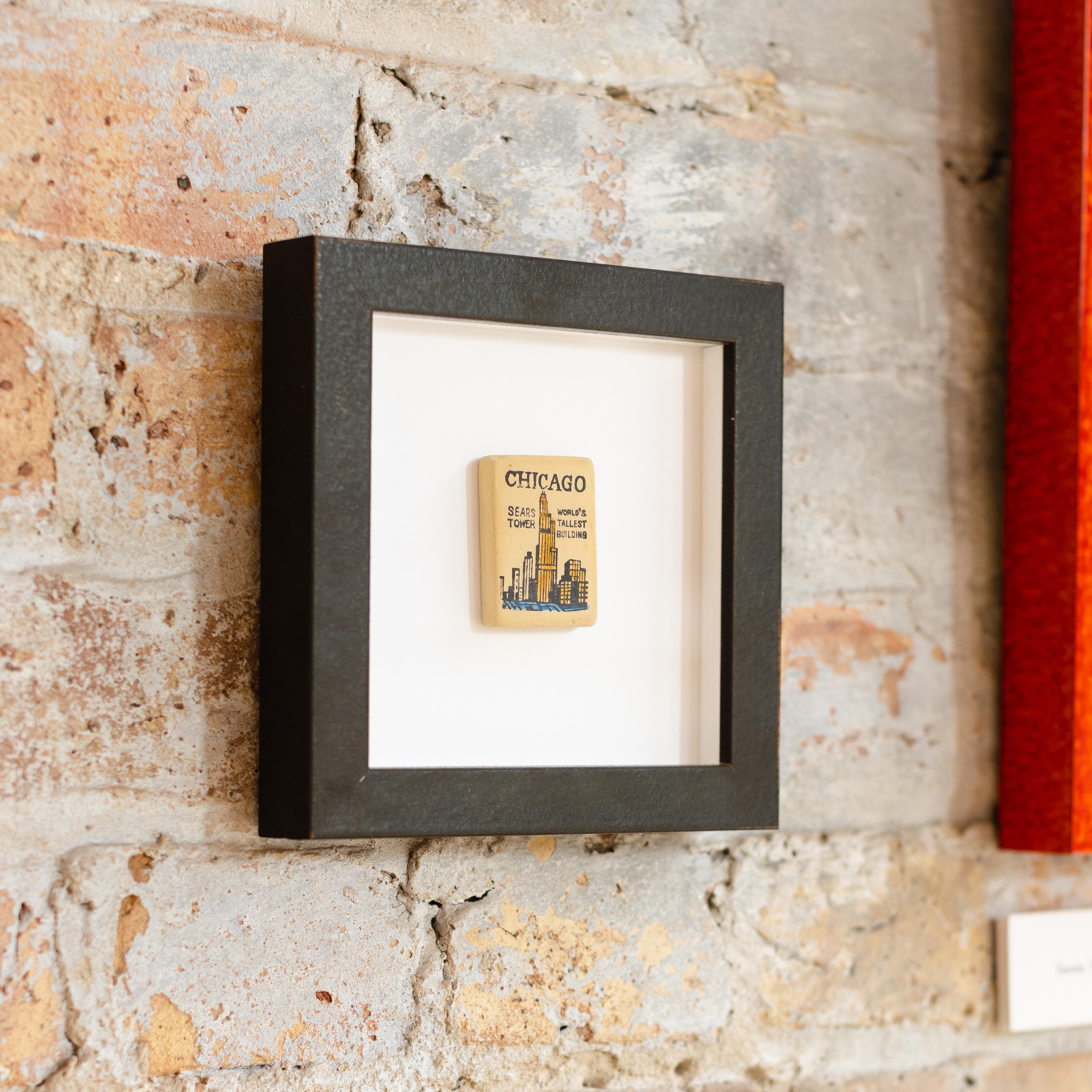 framed sears tower eraser