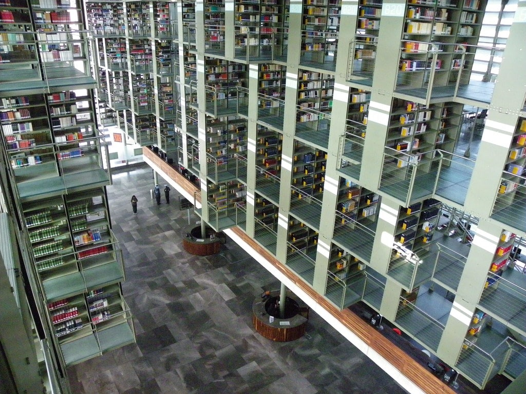 The Biblioteca Vasconcelos is one of the things to see in Mexico City
