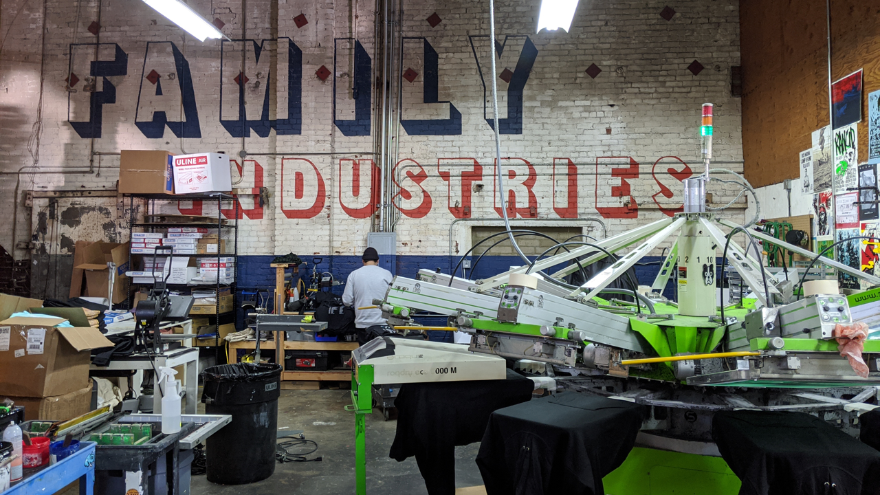 Family Industries in LA is a live-printing juggernaut – because they put process first