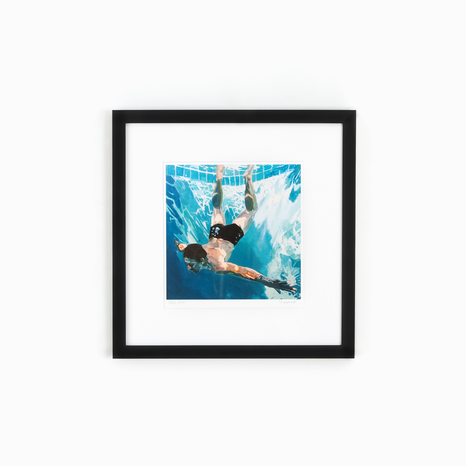 mercer slim product photo, clean black gallery wall frame