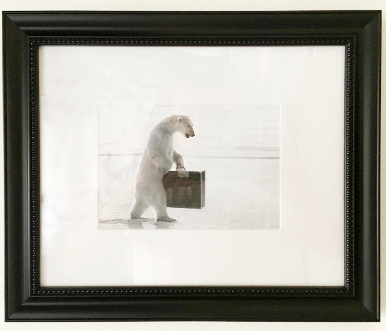 Polar Bear Framed Advertisement