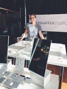 Emily Shaffer Studio Show Setup