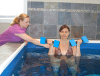 Aquatic exercise performed in a Commercial Endless Pool