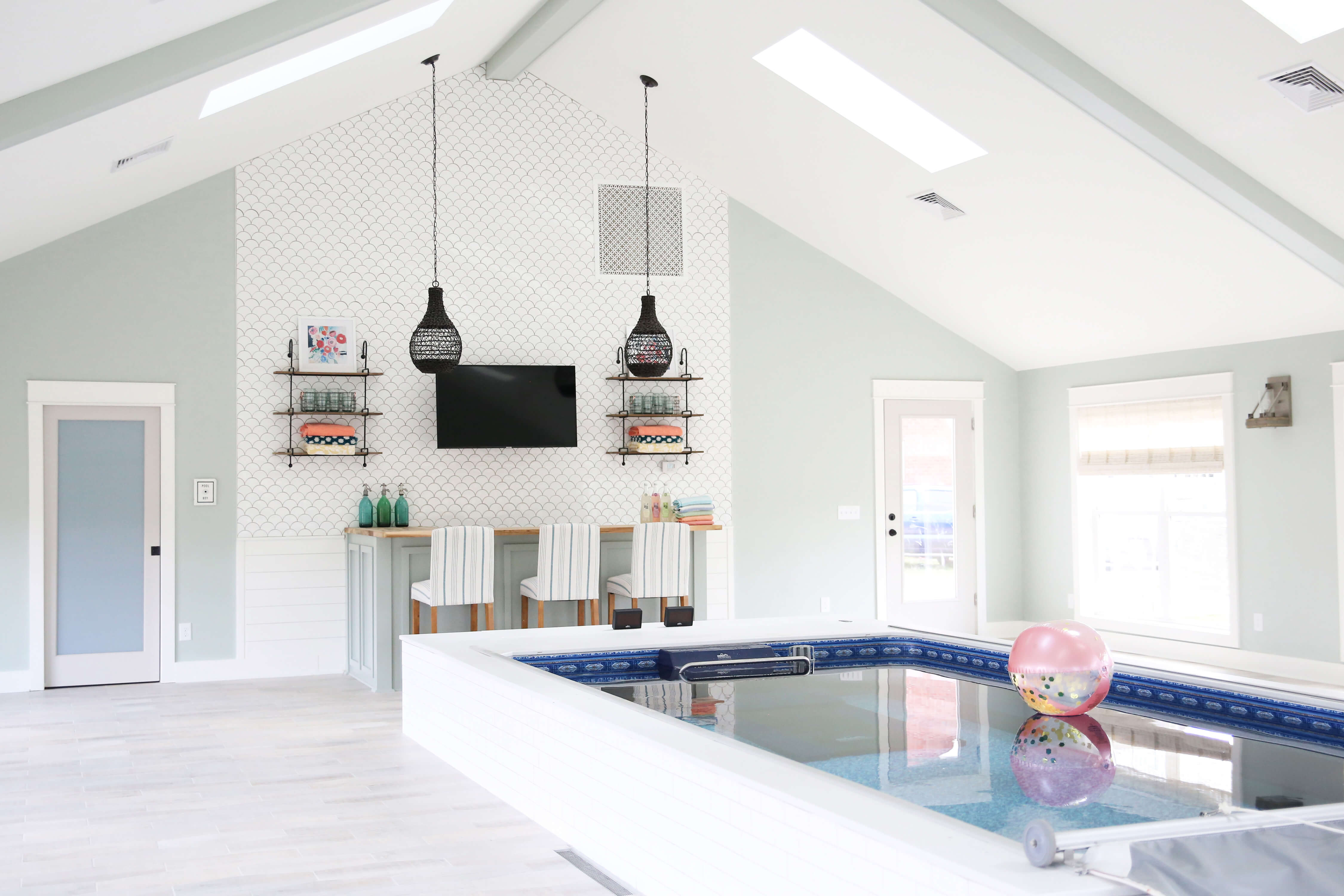 Pool House Design | Interior Designed Pool Room | Endless ...