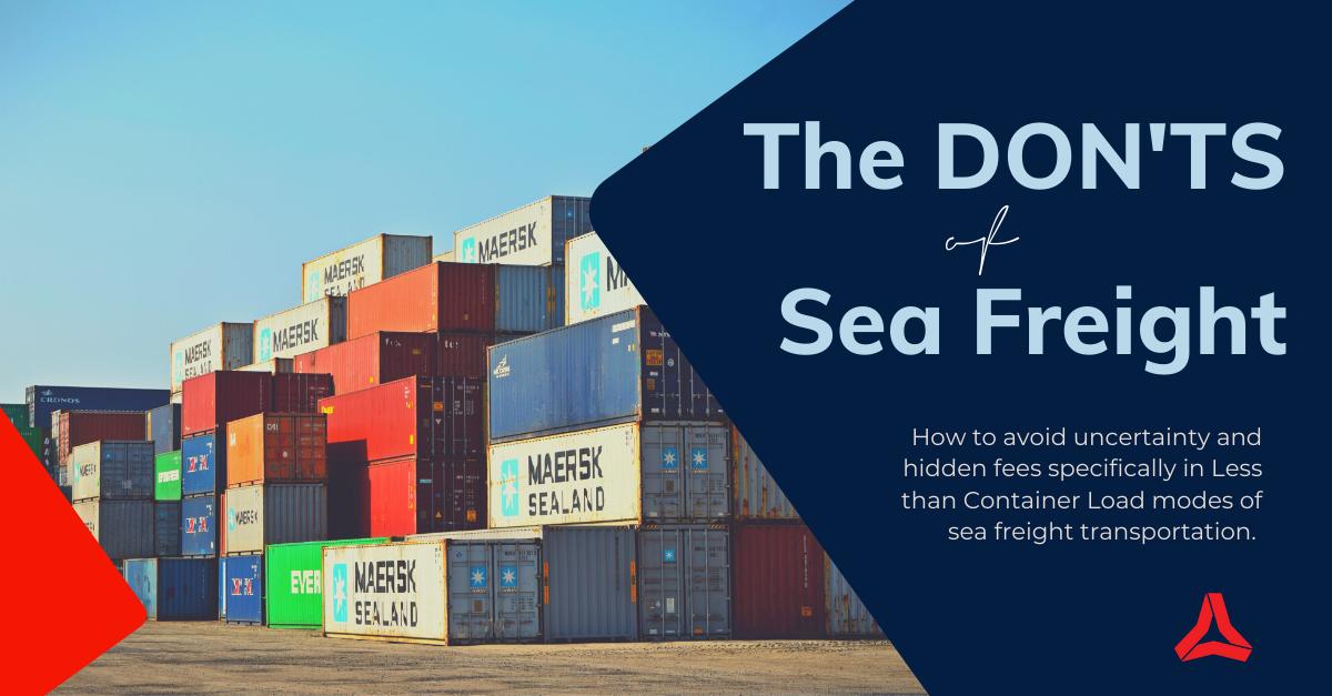 Sea Freight Don'ts Ocean Freight