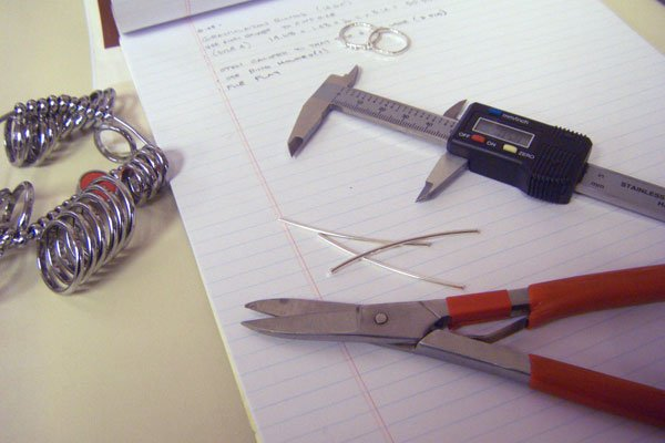 Measuring jewelry wire for rings