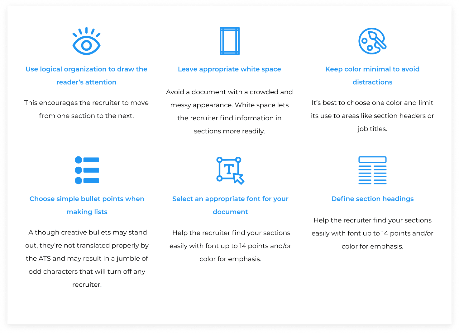 Tips for choosing a simple resume template