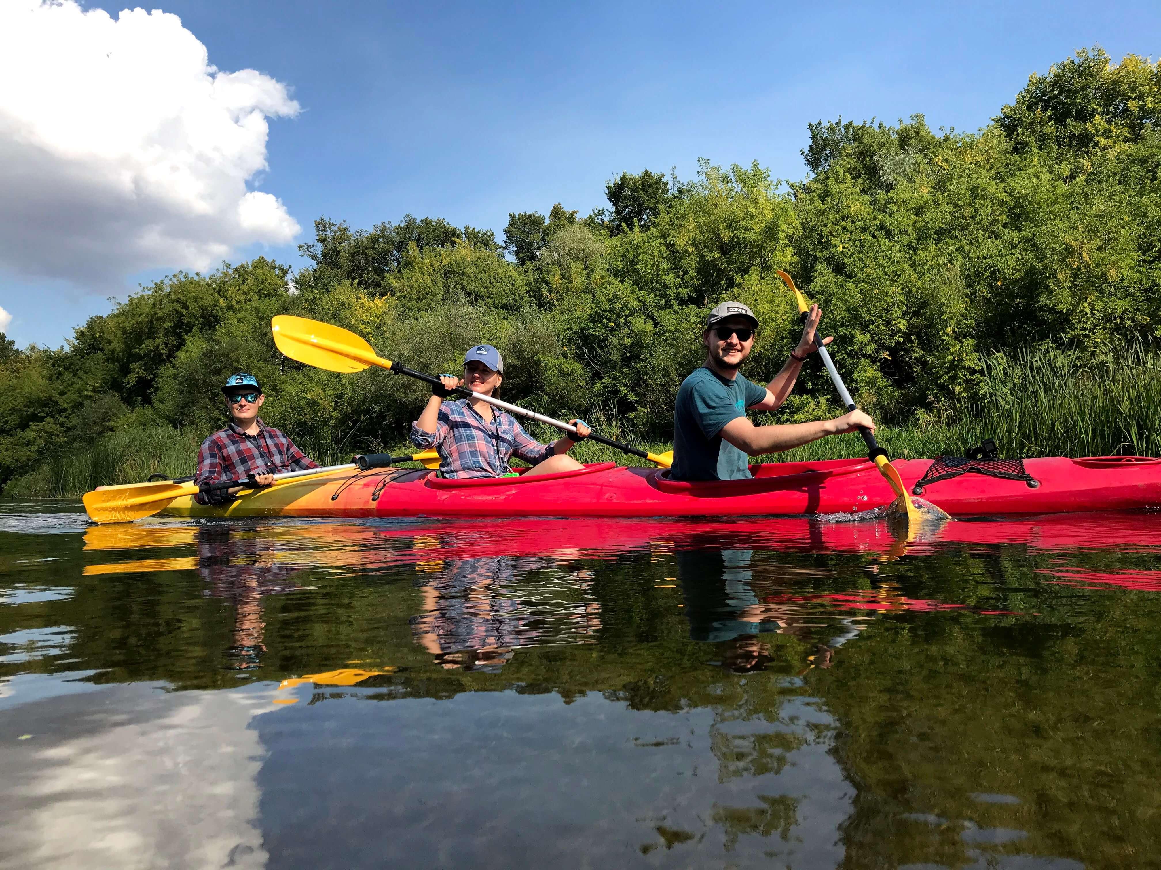 Grid Dynamics kayaking