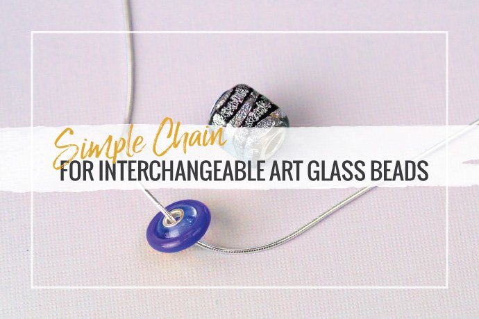 Learn how to make an easy chain necklace that is interchangeable to showcase your art glass beads collection. This tutorial covers materials and techniques.