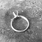 Visible seam on a finger ring
