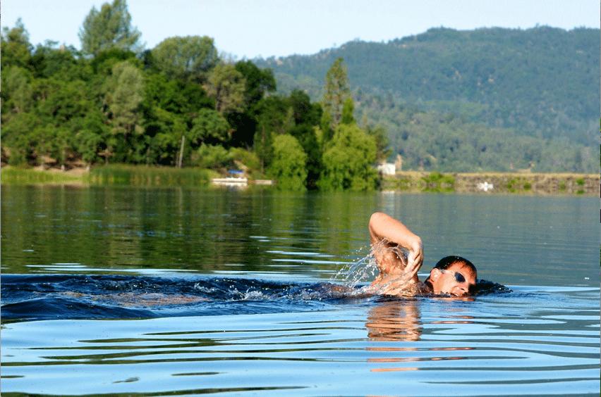 ultra-swimmer Jamie Patrick on an open water swim