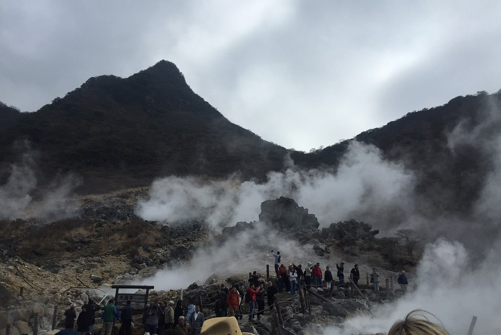 Seeing the active volcano of Owakunadi is one of the things to do in Hakone Japan