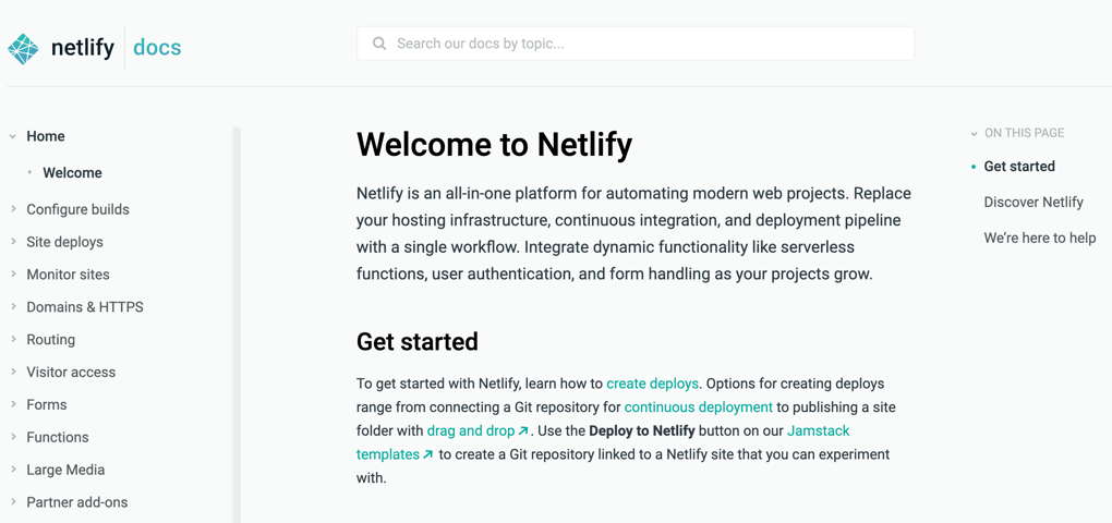 Deploying Netlify static website hosting